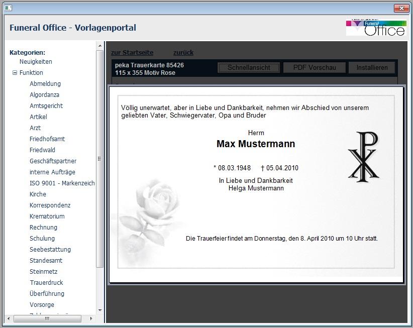 Funeraloffice - Die professionelle Bestattersoftware